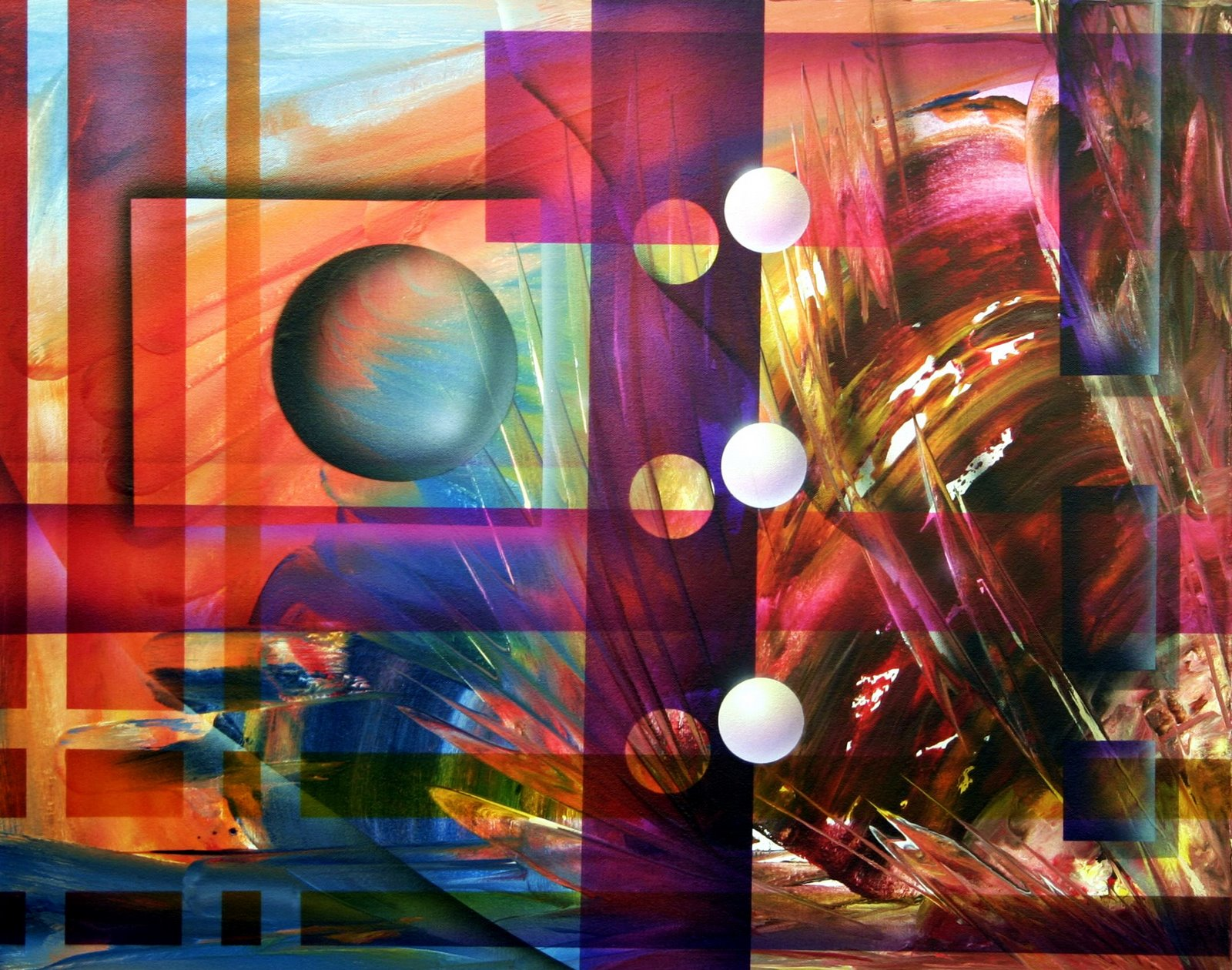 Original Abstract Contemporary Art Painting By Theo Dapore