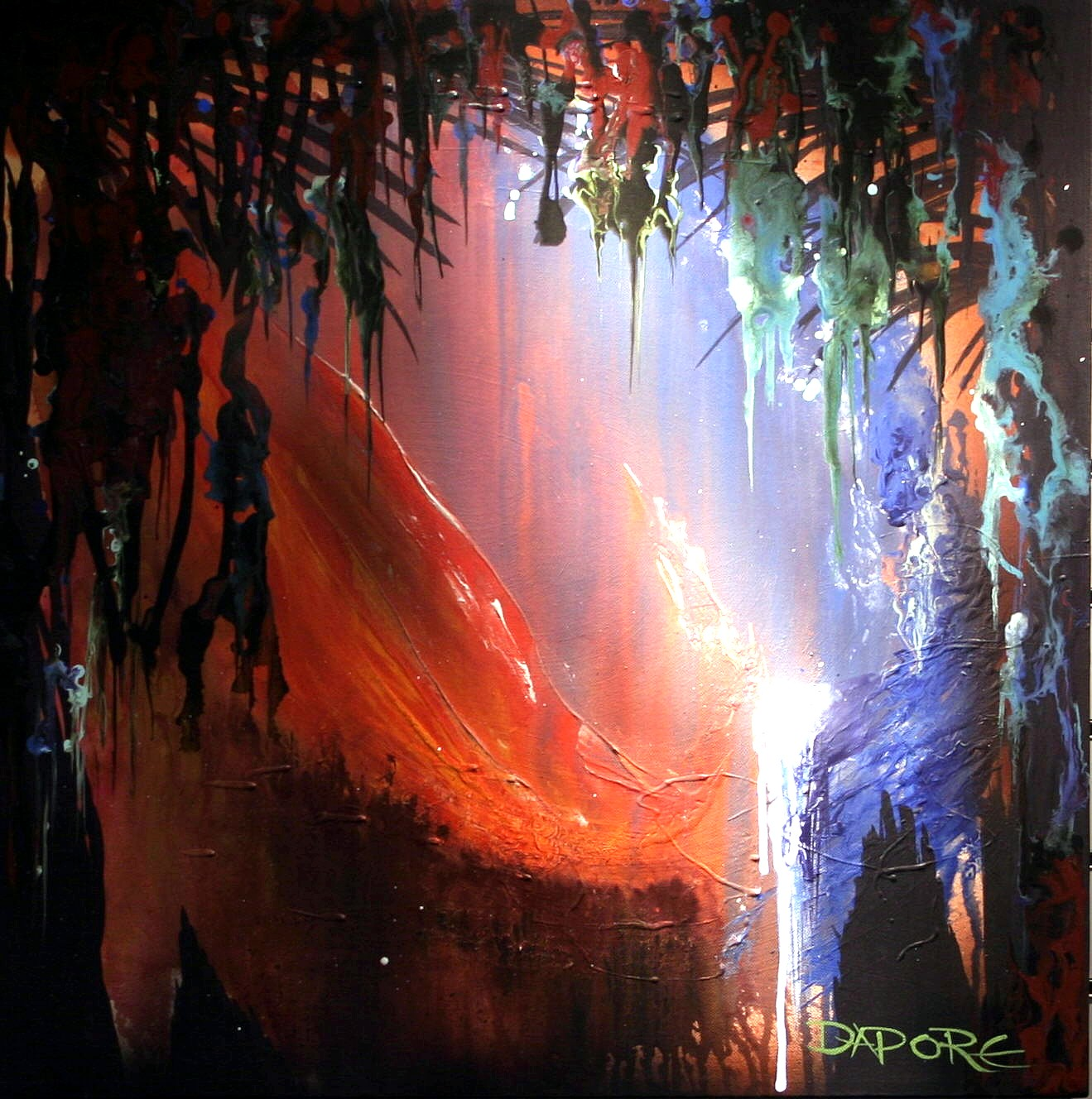 Abstract art gallery dapore abstract landscape painting for Abstract mural art