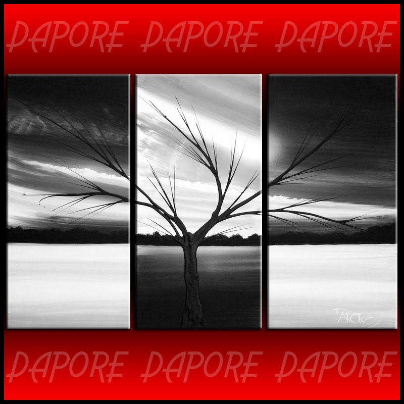 Black And White Art Abstract Landscape By Theo Dapore Painting