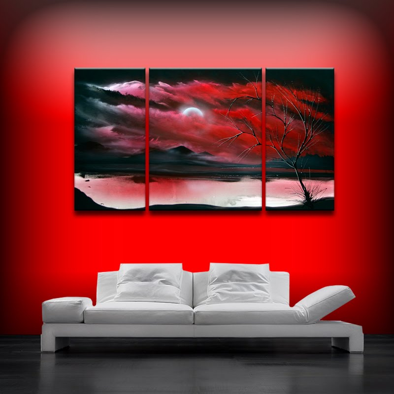 Red art landscape abstract by theo dapore dapore 39 s blog for Red canvas painting ideas