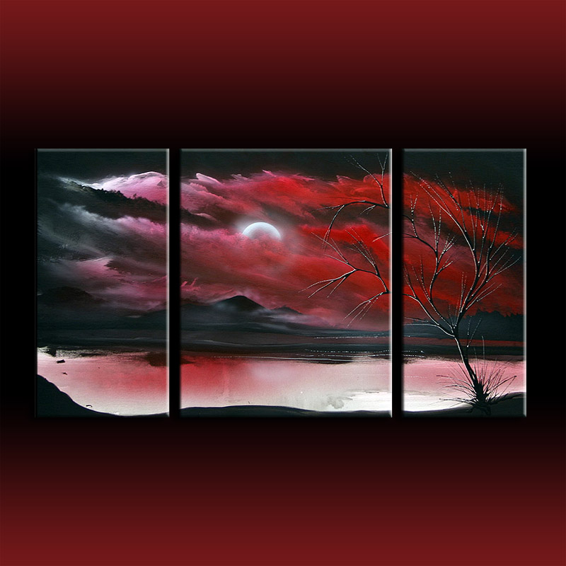 Red art landscape abstract by theo dapore dapores blog
